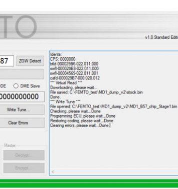 FEMTO Obd Flasher solution for BMW BOSCH MD1 & MG1 ECU